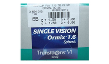 Линза Essilor Ormix 1.6 Transitions VII Grey C