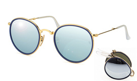 Ray-Ban 3517 Round Folding Flash 001/30