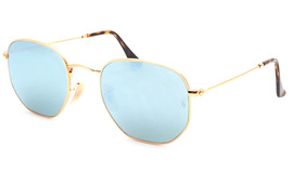 Ray-Ban 3548N Highstreet 001/30 Hexagonal Flat Lenses