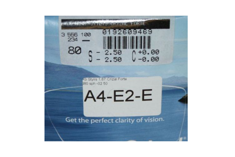 Линза Essilor Stylis 1.67 AS Crizal Forte UV