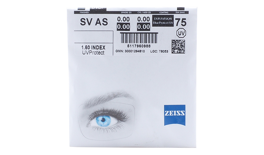 Линзa Carl Zeiss AS 1.6 Duravision BlueProtect UV